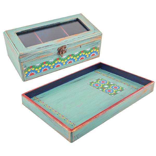سینی مثالین کد 314010 به همراه جعبه چای کیسه ای