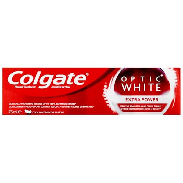 خمیر دندان کلگیت سری Optic White مدل EXTRA POWER حجم 75 میلی لیتر