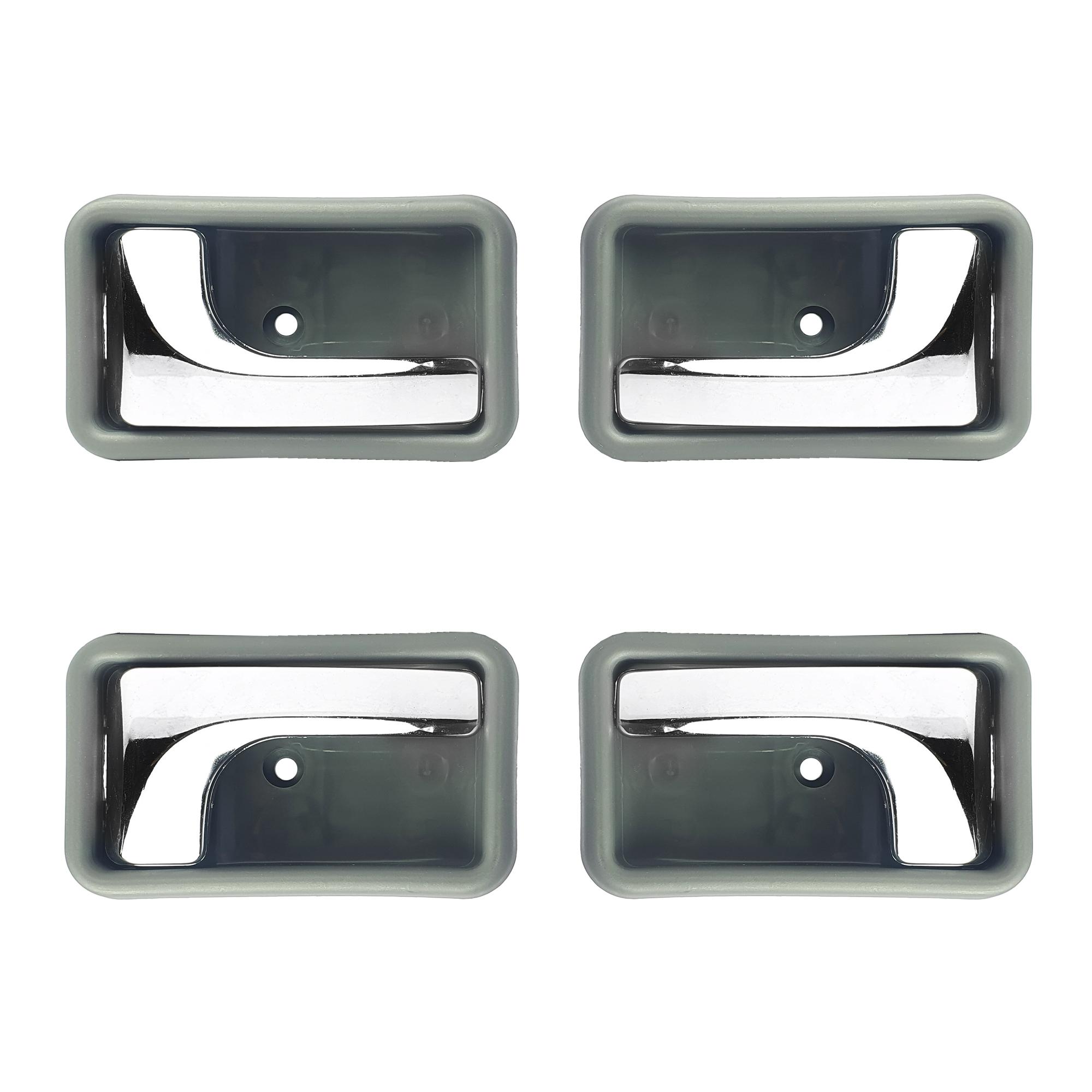 دستگیره داخلی در خودرو آذرپارت مدل کروم مناسب برای پراید صبا بسته 4 عددی