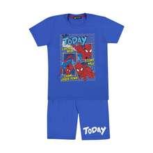 ست تی شرت و شلوارک پسرانه خرس کوچولو طرح اسپایدرمن کد 01