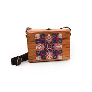 کیف دست ساز زنانه آرانیک مدل چوبی با تزیینات سوزن دوزی کد 1200400127