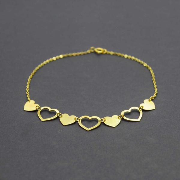 دستبند طلا 18 عیار زنانه کانیار گالری مدل BE19
