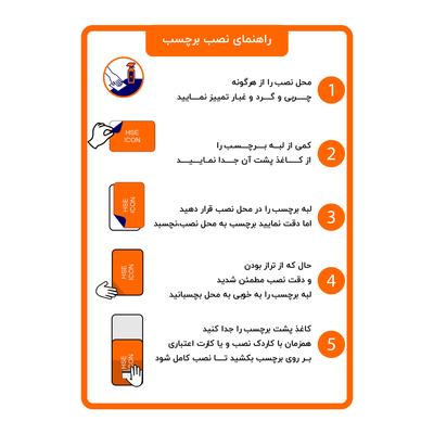 برچسب ایمنی طرح ظرفهای استفاده شده را بشویید مدل HSE 016 بسته 2 عددی