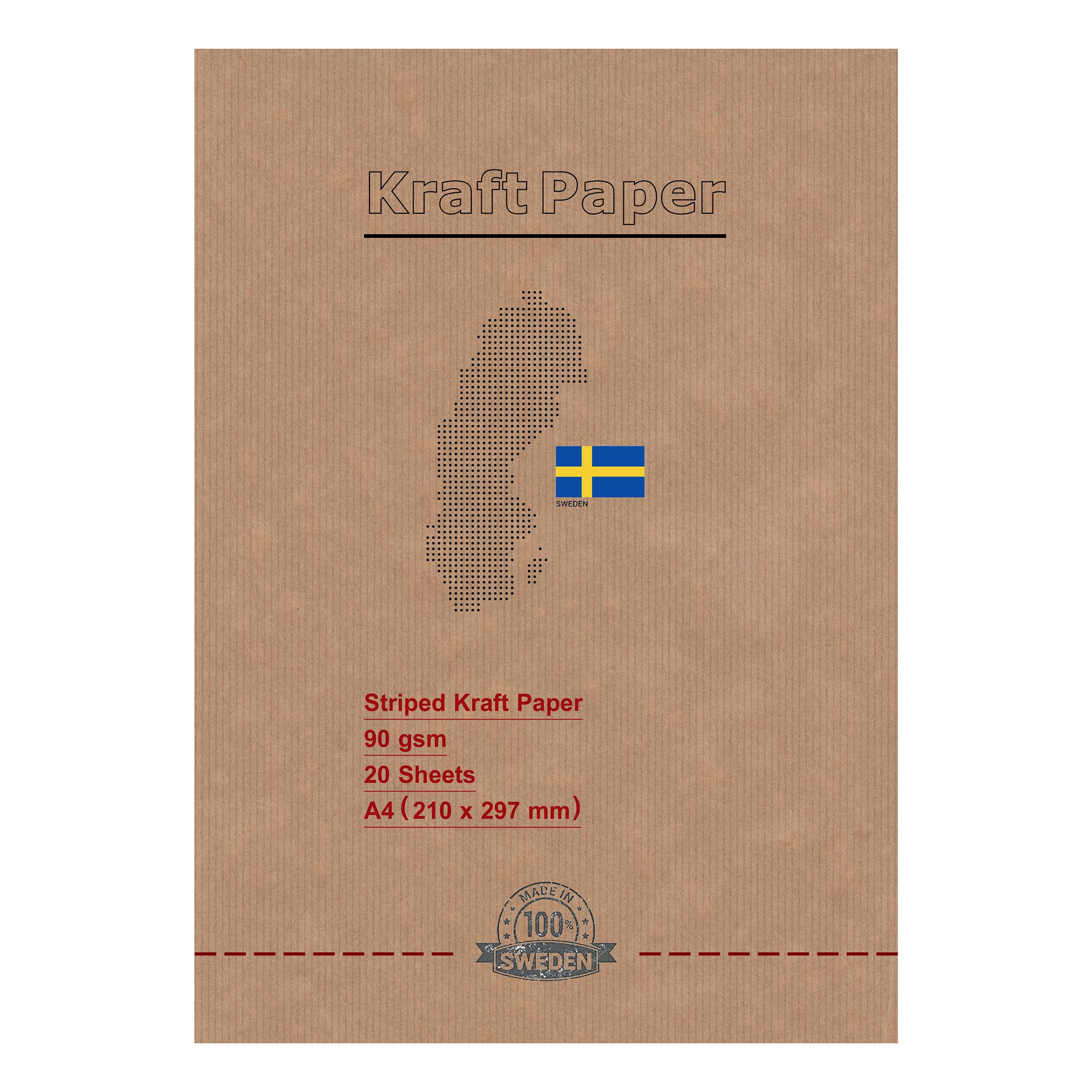 کاغذ کرافت کد A490ST بسته 20 عددی