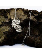 گردنبند نقره زنانه دلی جم طرح شهید کربلا کد D 85 -  - 2