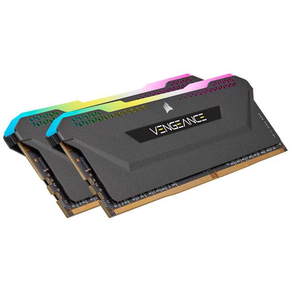 رم دسکتاپ DDR4 دو کاناله 3600 مگاهرتز CL18 کورسیر مدل VENGEANCE RGB PRO ظرفیت 32 گیگابایت