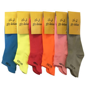 جوراب زنانه گی دلان مدل M70 مجموعه 6 عددی