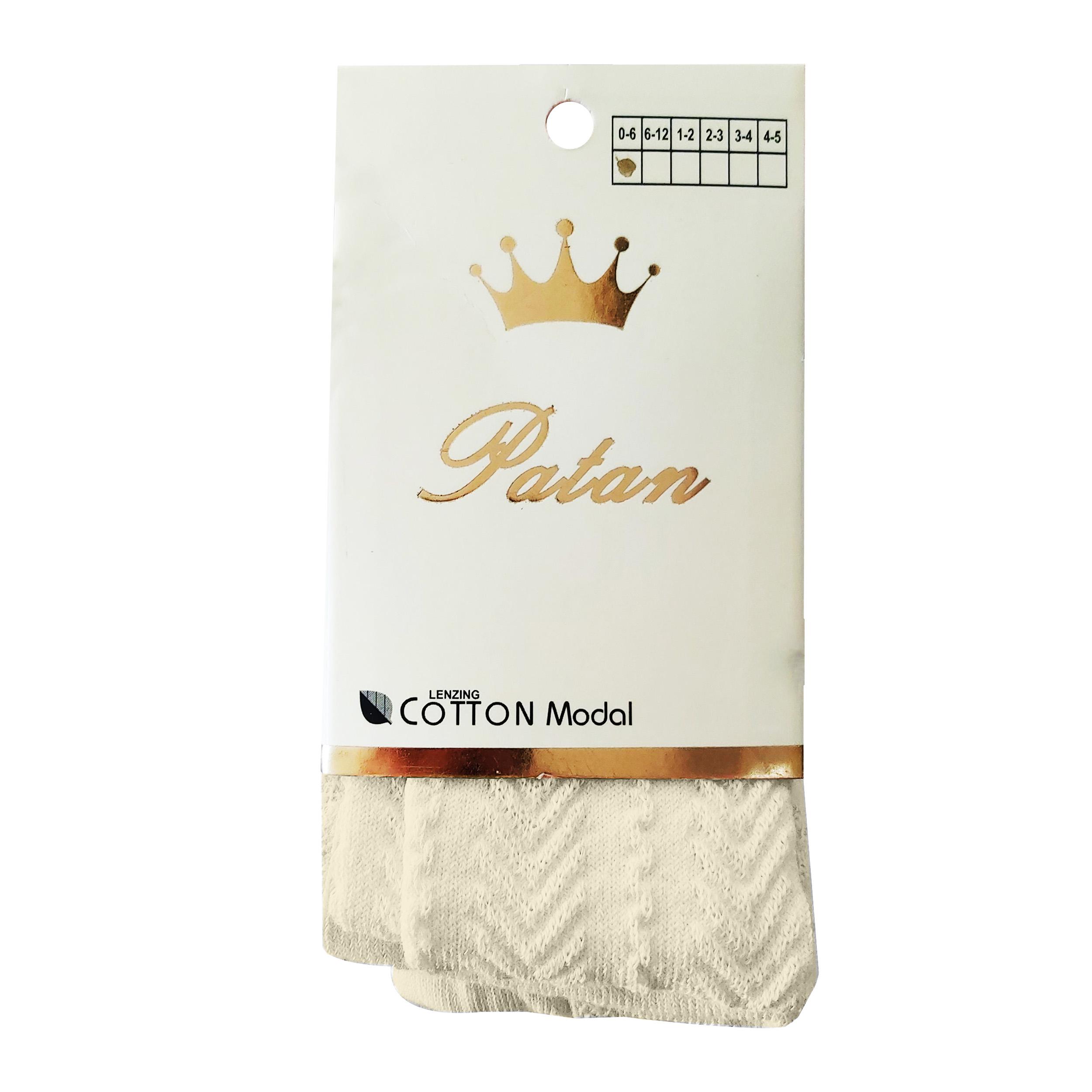 جوراب شلواری دخترانه پاتن کد CR03 -  - 3