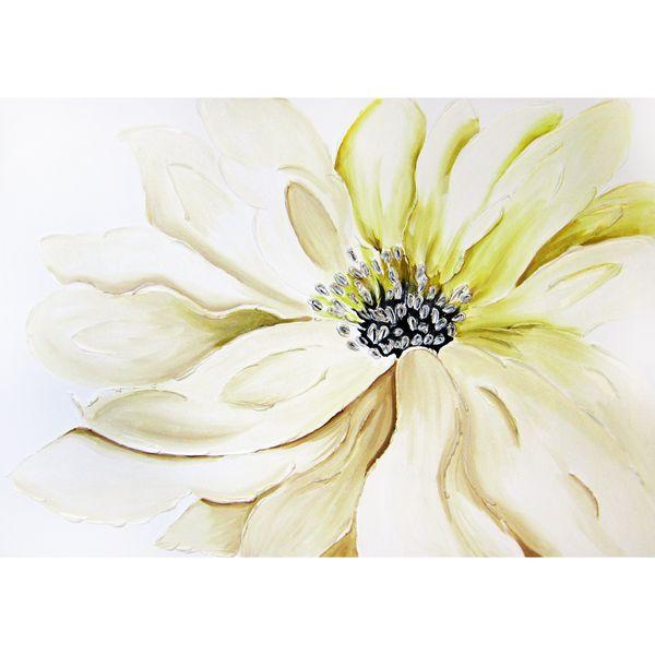 تابلو نقاشی میکس مدیا طرح گل عروس برجسته کد 325