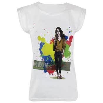 تی شرت آستین کوتاه زنانه ماییلدا مدل 3522-23