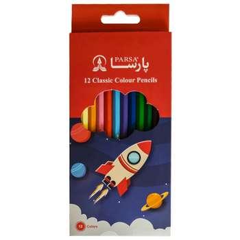 مداد رنگی 12 رنگ پارسا کد 11