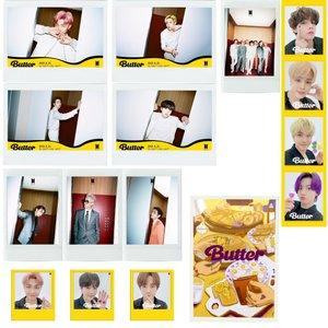 آویز تزیینی طرح بی تی اس مدل bts butter3 مجموعه 13 عددی