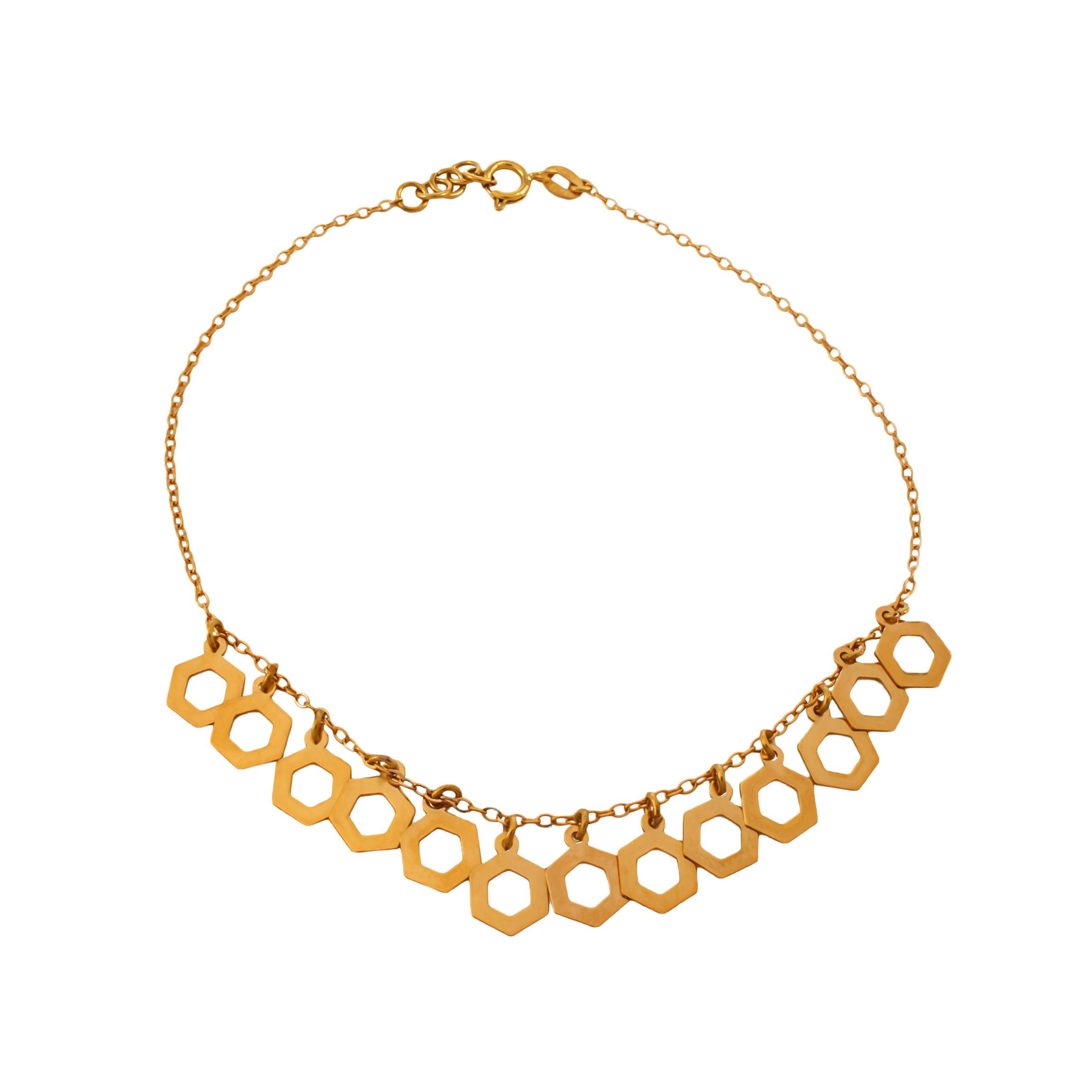 پابند طلا ۱۸ عیار زنانه دُرج مدل DA01
