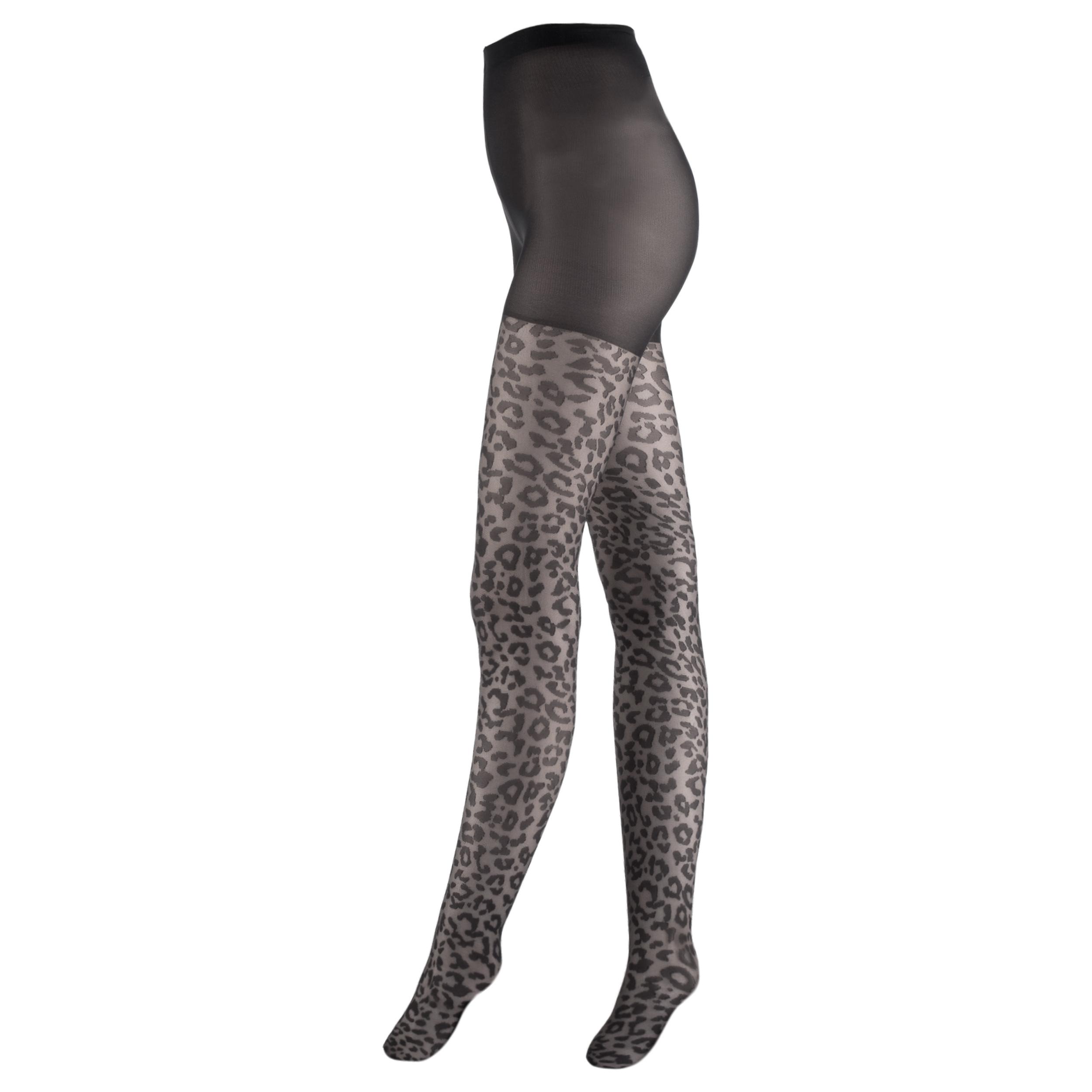 جوراب شلواری زنانه ایتالیانا طرح پلنگی کد Z72