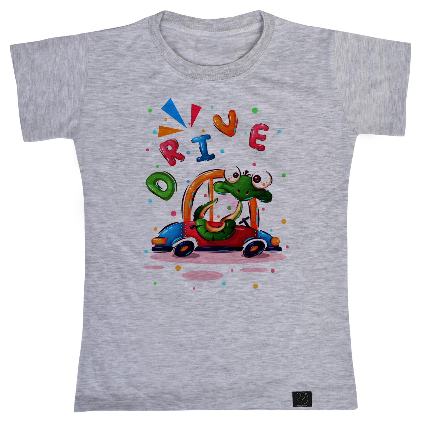 تی شرت پسرانه 27 طرح DRIVE کد J15