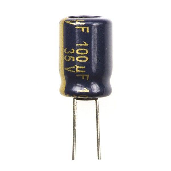 خازن 100 میکروفاراد 35 ولت مدل 135 بسته 5 عددی