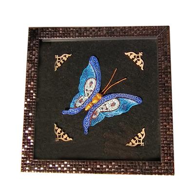 تابلو میناکاری مدل پروانه کد 3 AM