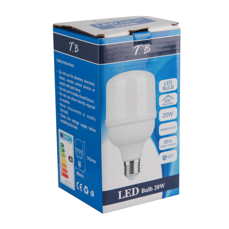 لامپ ال ای دی 20 وات تی دات بی مدل A3231 پایه E27 بسته 10 عددی