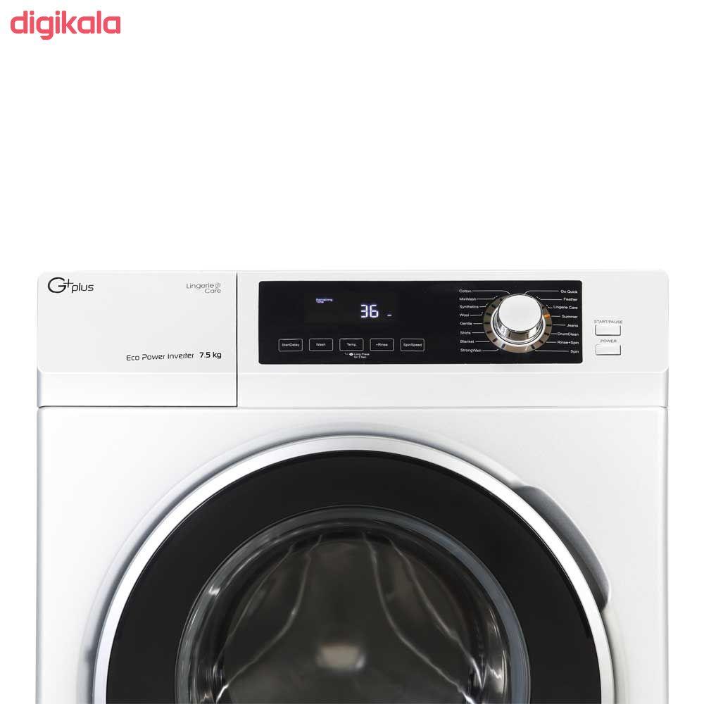 ماشین لباسشویی جی پلاس مدل GWM-K723W ظرفیت 7.5 کیلوگرم main 1 5