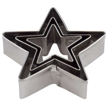 کاتر شیرینی پزی مدل ستاره بسته 3 عددی
