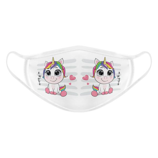 ماسک تزیینی بچگانه طرح تک شاخ بامزه کد 617015
