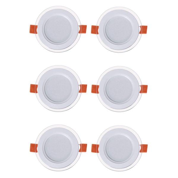 پنل ال ای دی 7 وات گرد نور مدل SH11 بسته 6 عددی