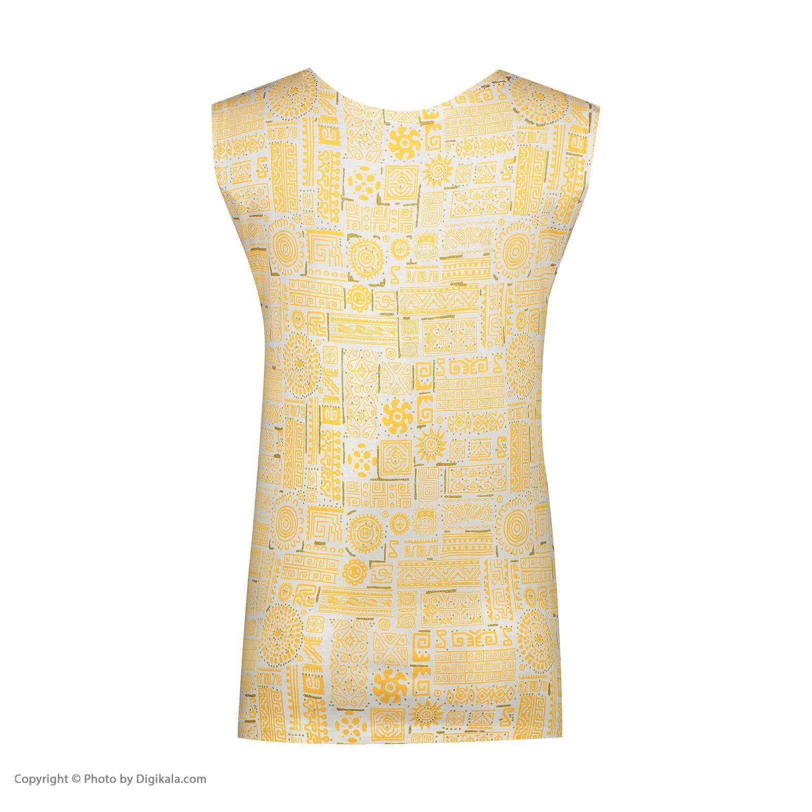 ست تاپ و شلوارک زنانه کد 0217 رنگ زرد -  - 9