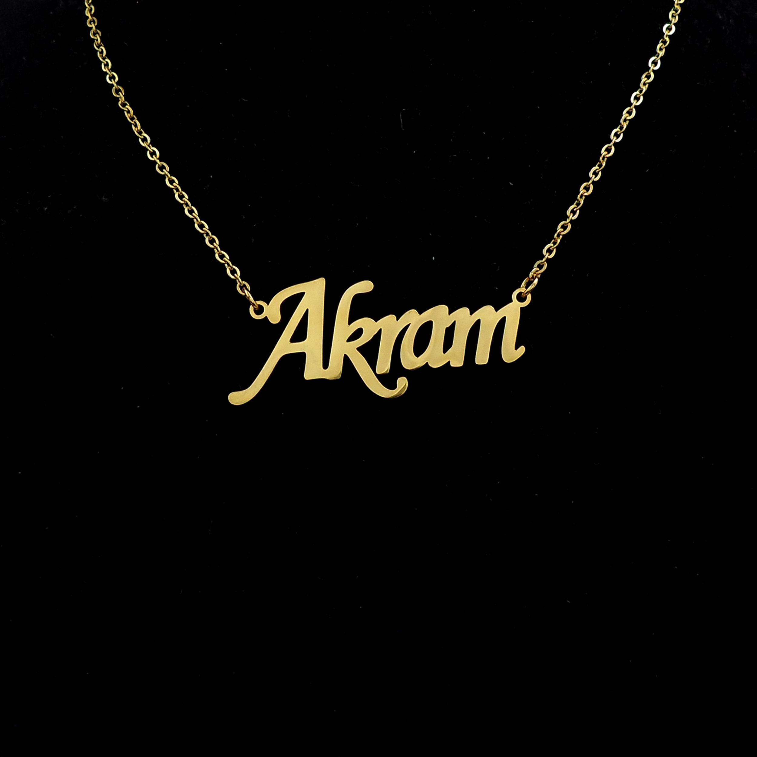 گردنبند زنانه طرح اکرم کد 116