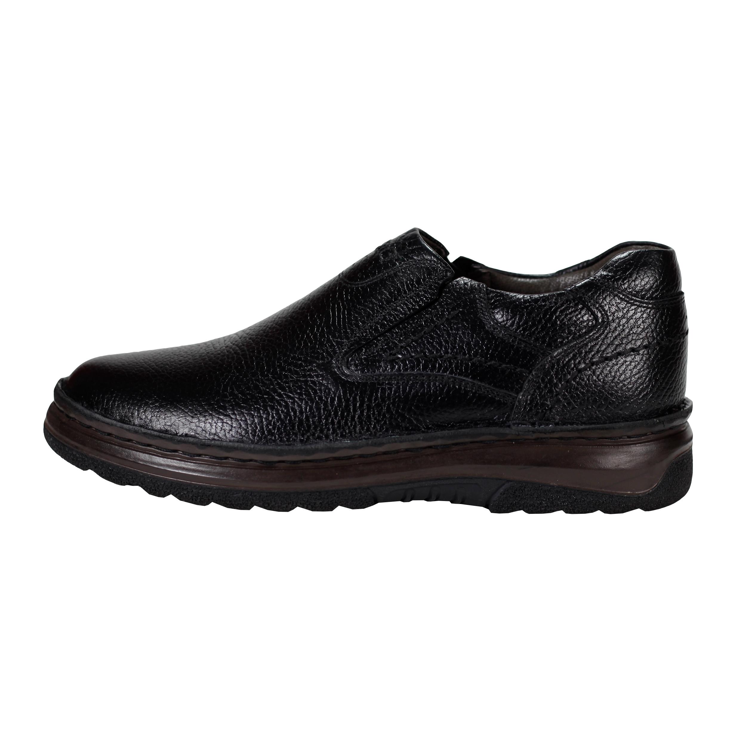کفش روزمره مردانه چرم چهل ستون کد 107-B