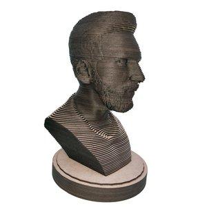 سردیس چوبی مدل چندلایه طرح لیونل مسی
