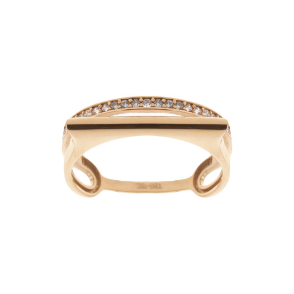 انگشتر طلا 18 عیار زنانه مایا ماهک مدل MR0583