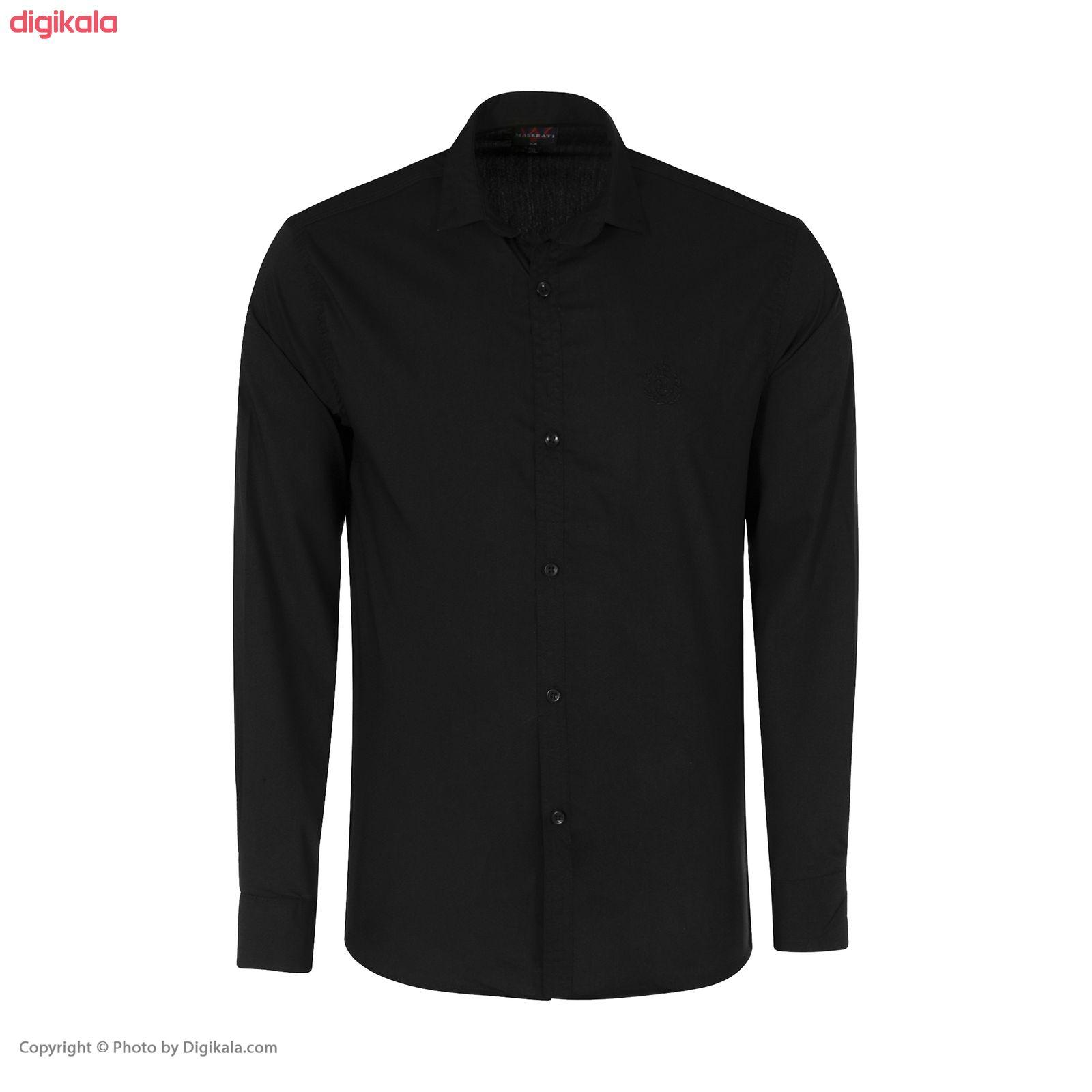پیراهن مردانه مدل PVLF-B-M-9903 رنگ مشکی main 1 1