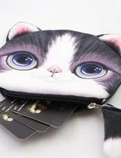 کیف پول دخترانه طرح گربه مدل C-13BK -  - 5