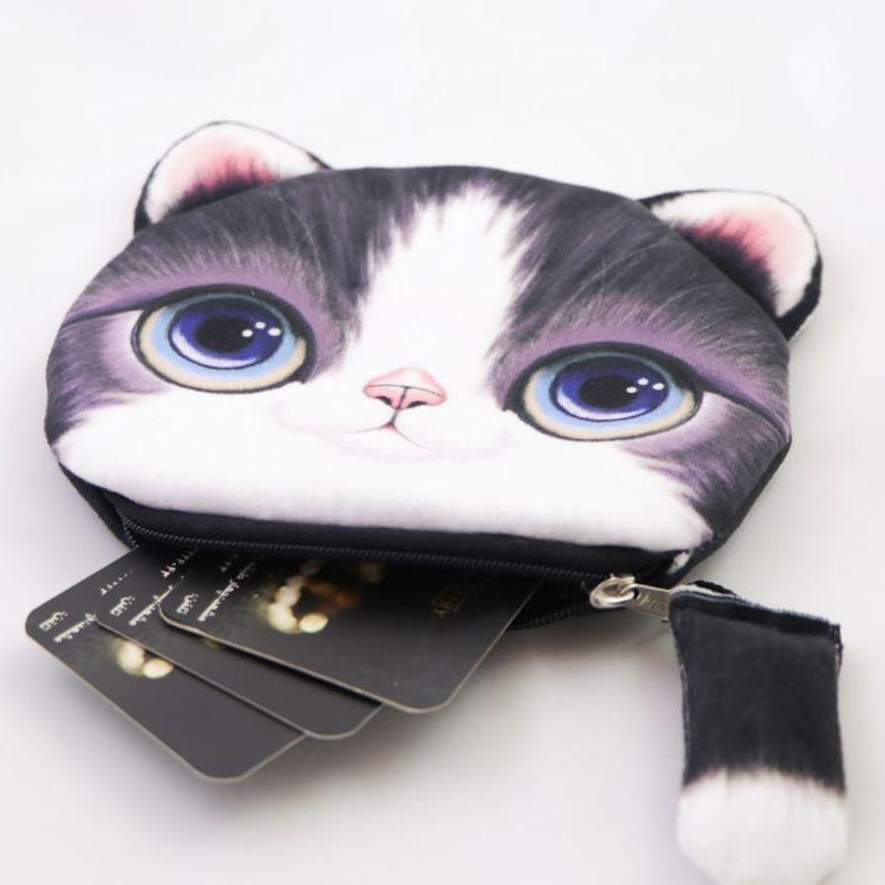 کیف پول دخترانه طرح گربه مدل C-13BK -  - 6
