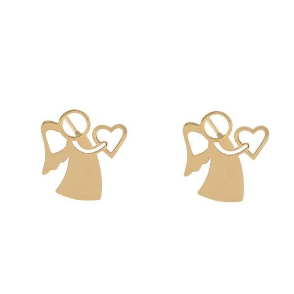 گوشواره طلا 18 عیار زنانه کانیار گالری کد GOA105