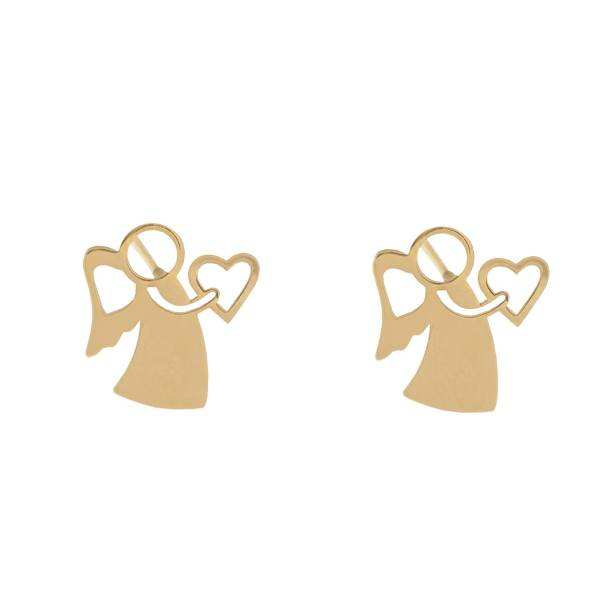 گوشواره طلا 18 عیار زنانه کانیار گالری کد GOA105 -  - 2