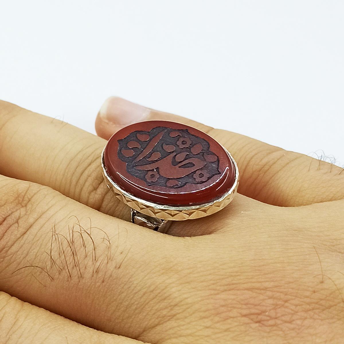 انگشتر نقره مردانه سلین کالا مدل عقیق کد ce-As151