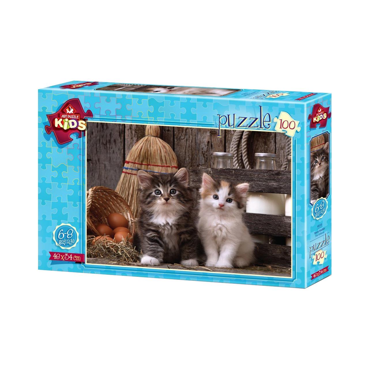 پازل 100 تكه آرت پازل طرح The Kittens كد 4515