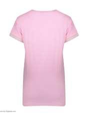ست تی شرت و شلوار زنانه فمیلی ور طرح دختر کد 0222 رنگ صورتی -  - 7