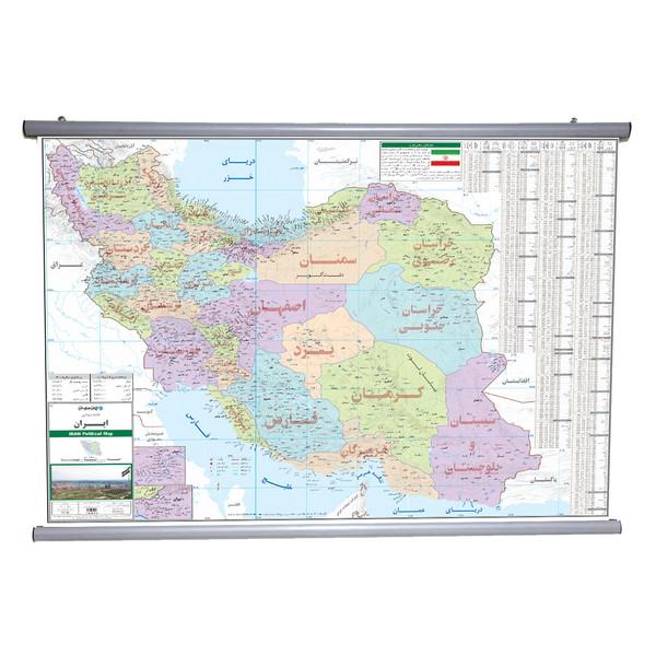 نقشه سیاسی ایران انتشارات ایرانشناسی مدل 1283