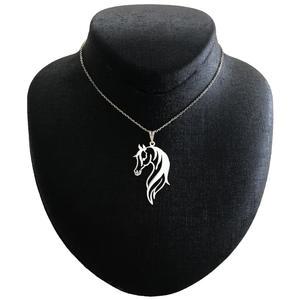 گردنبند نقره مردانه مدل اسب ترکمن کد G-181