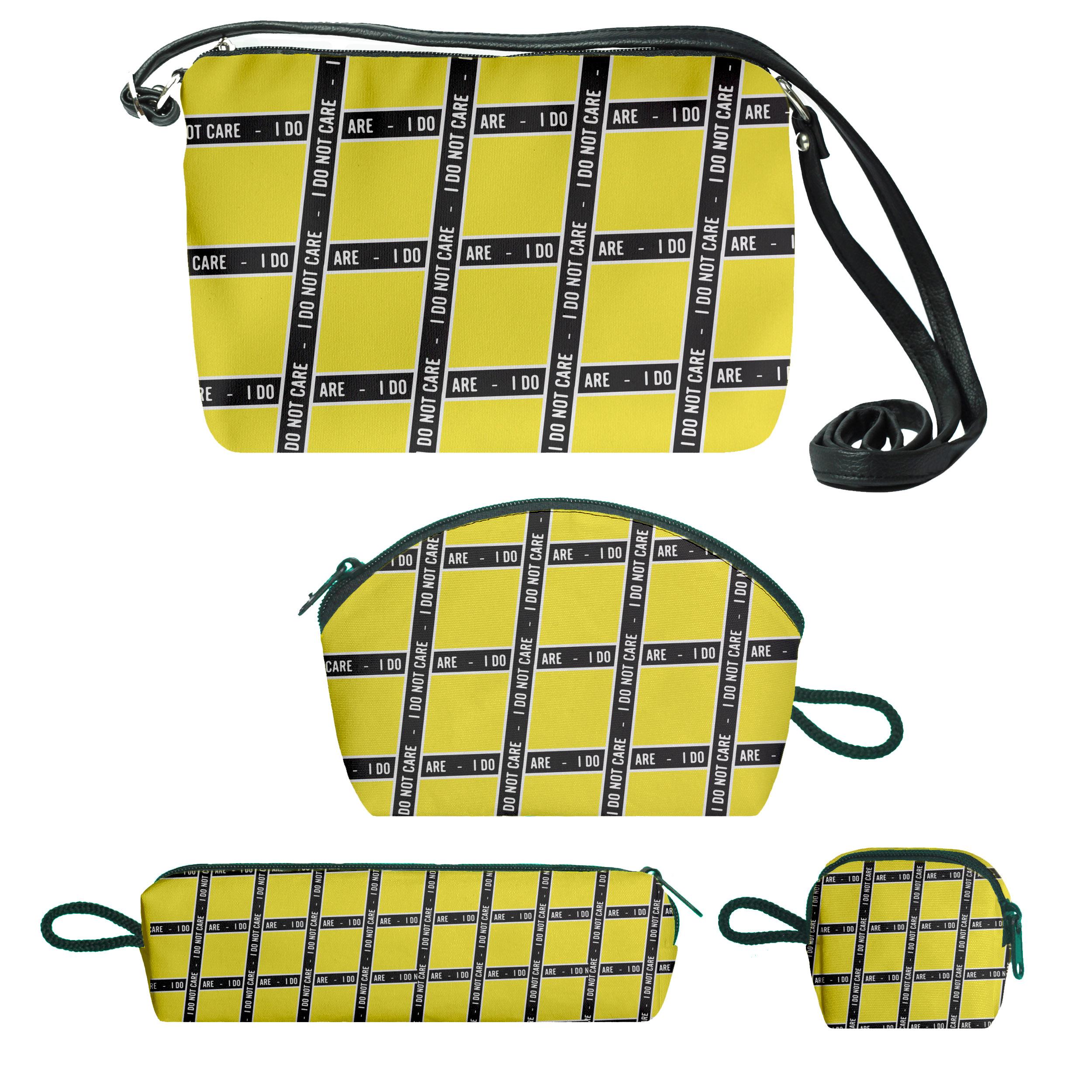 کیف دخترانه طرح care کد f174 مجموعه 4 عددی