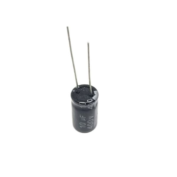 خازن الکترولیت 10 میکروفاراد 400 ولت مدل چانگ بسته 10عددی