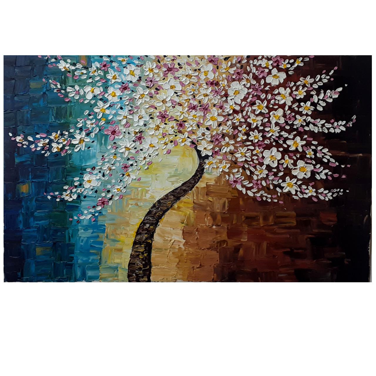 خرید                      تابلو نقاشی اکریلیک طرح درخت تنها کد 0056