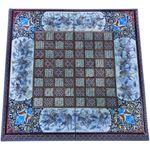 صفحه شطرنج خاتم کاری طرح چوگان کد 63369