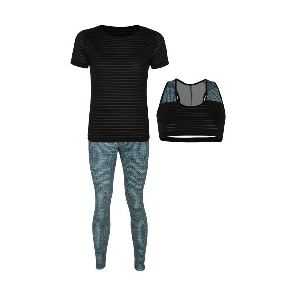 ست 3 تکه لباس ورزشی زنانه کد Mhr-360