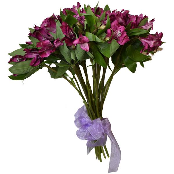 شاخه گل آلستر بنفش دسته 20 عددی
