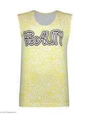 ست تاپ و شلوارک زنانه طرح بیوتی کد 0227 رنگ زرد -  - 6