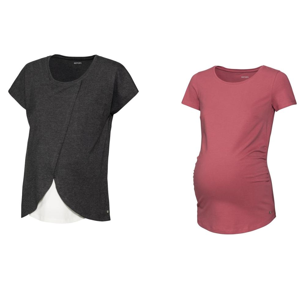 تصویر تی شرت بارداری اسمارا مدل wbp2020 مجموعه 2 عددی