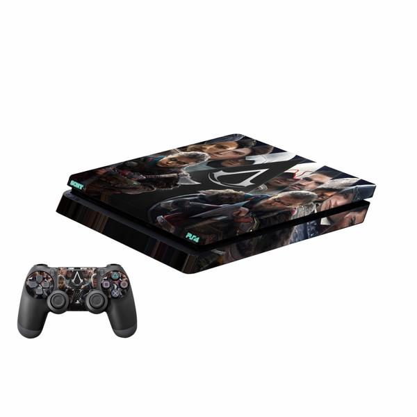 برچسب پلی استیشن ۴ اسلیم و دسته بازی پلی اینفینی مدل Assassins Creed Valhalla 02
